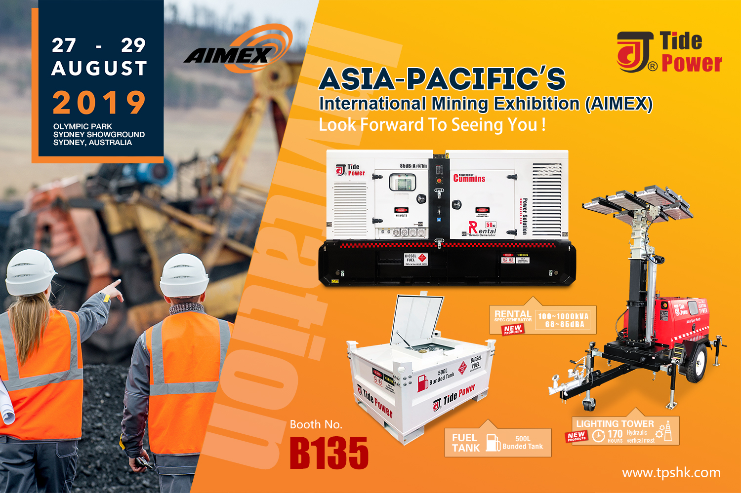 The ASIA-PACIFIC'S International Mining Exhibition Invitation
